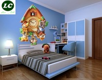core creative wall clock cuckoo clock cartoon children room bedroom mute quartz clock sitting room clocks supe Polaris machine