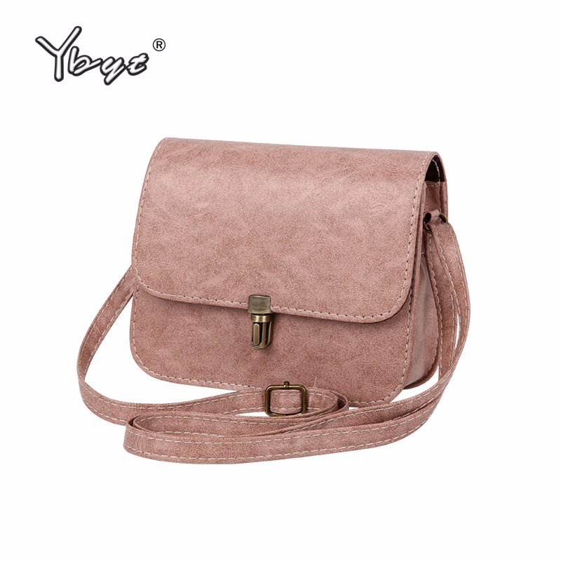 купить YBYT brand 2018 new flap PU leather mini handbag hotsale lady shoulder bag women satchel shopping purse messenger crossbody bags по цене 399.83 рублей