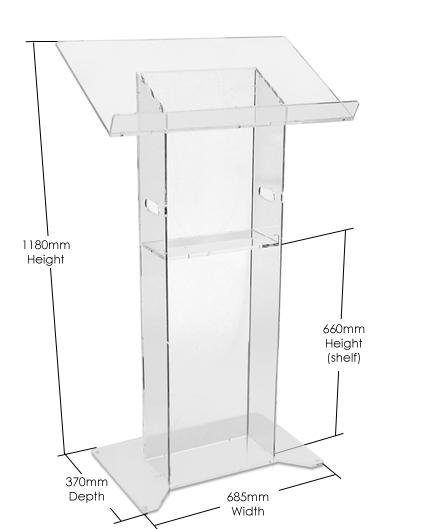 Small Cheap Factory Direct Supply Acrylic Podium Pulpit Lectern Acrylic Desktop Lectern Frosted Acrylic Lectern Floor Standing