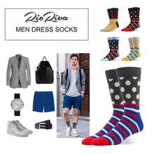 hot deal buy  90% cotton men socks polka dot striped colorful funky pattern fashion for crazy boys- mid calf comfortable