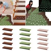 NC 13 Stücke Hause Leuchtenden selbstklebende rutschfeste Bodentreppe Teppiche Bear Claw Muster Glow In Dark Treppenstufen Protector Matten