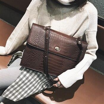 c615a23a4bb7 Burminsa женский крокодиловый большой портфель женские сумки-мессенджеры  горячая Распродажа большие дешевые сумочки высокого качества