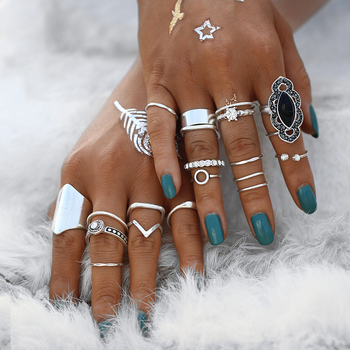 Geometric Bohemian Womens Ring Set 1