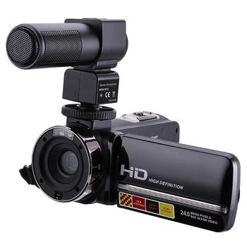 1080P Full HD Camcorder Remote Control Infrared Night Vision Camera 24MP 16X Digital Zoom Video Camera w/ Microphone Touchscreen 1