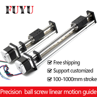 Free Shipping Oem Low Price 40mm Wide Linear Guide Rail With Motor And Ball Screw For