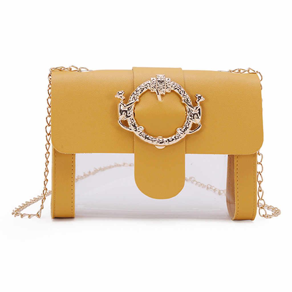 Mode Transparent gelée fermeture éclair épaule messager sac à main femmes sac 2019 luxe sacs concepteur feminina sac main femme goutte