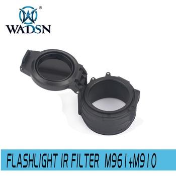 "Filtro IR de linterna táctica Airsoft de wadgn M961 + Accesorios de linterna M910 FM14 (1,62 "") WEX602"