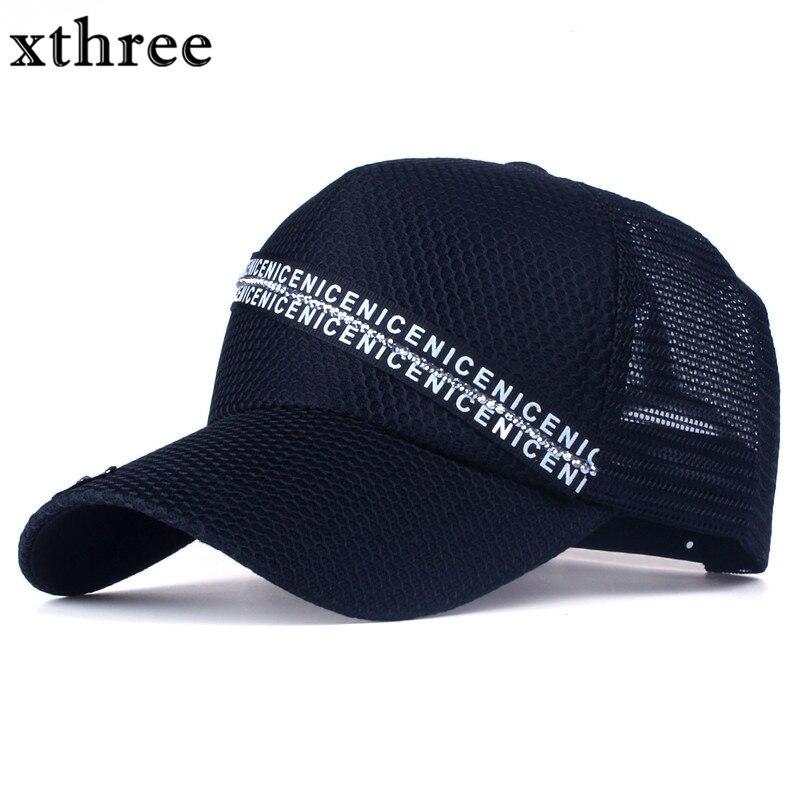 Prix pour Xthree femmes maille casquette de baseball d'été de soleil chapeau snapback chapeau pour fille os gorras 5 panneaux
