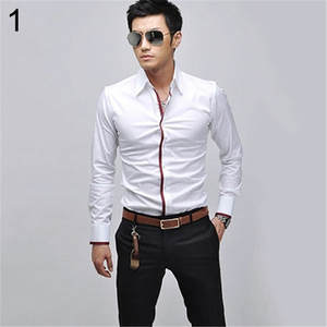 Tee-Top Business-Shirt Slim-Fit Long-Sleeve Korean Casual Fashion Stylish New-Product