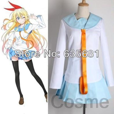 Cos Kill la Kill Nisekoi Chitoge Kirisaki Love Cosplay Costume Clothing Set Spring Sailor Suit Girl Daily School Uniform