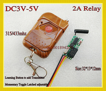 Mini Wireless Light Switch DC 3V-5V 3.7V 4.2V Relay Receiver Transmitter Micro Remote Controller Small Volume LED Remote ON OFF