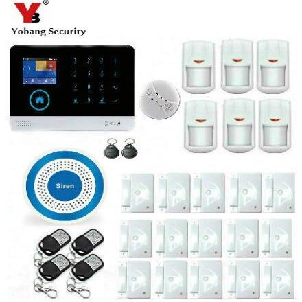 YobangSecurity Wifi Wireless WCDMA 3G LED Burglar Intruder Alarm System With IOS/Android APP