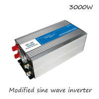DC AC 3000W Modified Sine Wave Inverter 12V To 220V Frequency Converter Voltage Electric Power Supply