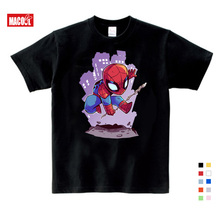 boys summer clothes New Spiderman Cartoon Print Tee Tops For Boy Girls Clothing Superhero Funny lovely Kids T Shirt 3-12 years