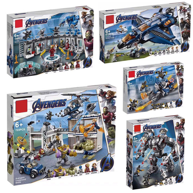 New Superheroes Avengers 4 Fit Legoings Marvel Avengers 76131 76124 76125 76126 Endgame Figures Building Blocks Bricks Toy Gifts(China)