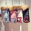 2016 Зимняя Куртка Женщин Вниз куртки натуральный Мех С Капюшоном Жилет вниз пальто женщин короткий тонкий дизайн утолщение жилеты верхняя одежда