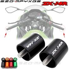 цены Motorcycle Accessories CNC Handlebar Grips Bar Ends Cap Slide For Kawasaki ZX-14R ZX 14R ABS 2006-2016