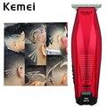 Kemei Мужская машинка для стрижки волос Профессиональный беспроводной резец для волос с бородой триммер для бороды точное моделирование DIY ст...