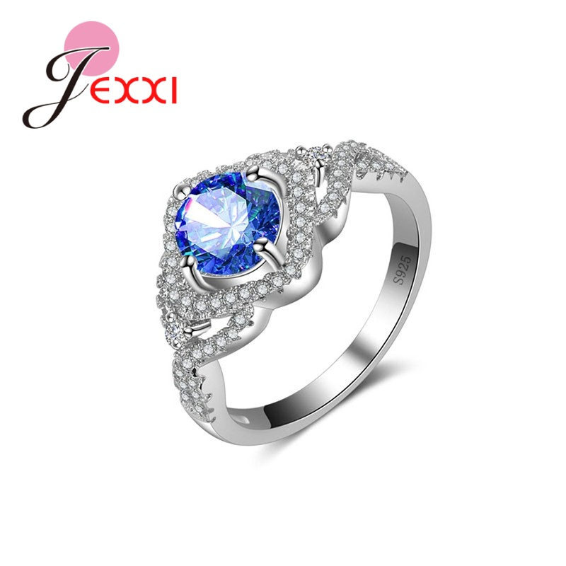jexxi 5 colors fashion 925 sterling silver wedding rings. Black Bedroom Furniture Sets. Home Design Ideas