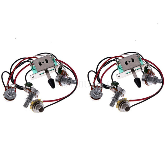Electric Guitar Pickup Wiring Harness Switch Pots Jack for Tele