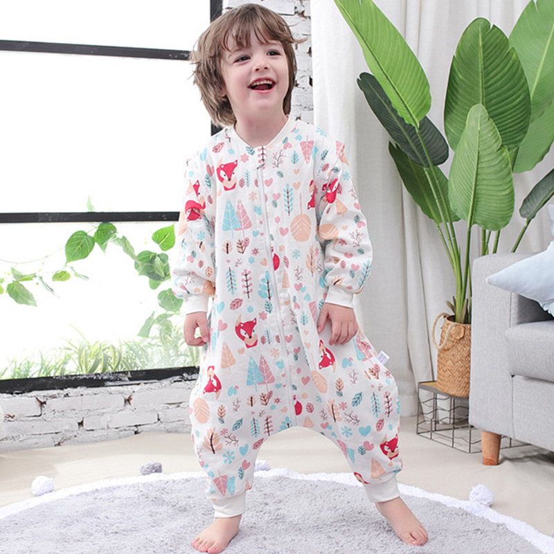 Summer Thin Baby Sleeping Bag Comfortable Kid Sleepwear Infant Breathable Anti Kick Quilt Newborn Two Way Zipper Sleepsacks 0-3Y