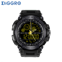Diggro DI10 Smart Watch Waterproof Outdoor Sport 5ATM Luminous Dial Pedometer Message Reminder Clock Pointerfor Android IOS
