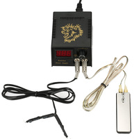 Digital Tattoo Power Supply Foot Pedal Clip Cord Pro Double Output Tattoo Power Supply Kit For