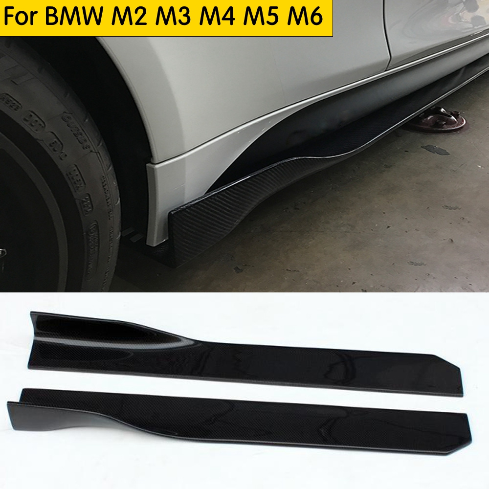 105cm Length Carbon Fiber Side <font><b>Bumper</b></font> Extension Side Skirt for <font><b>BMW</b></font> F87 M2 E90 E92 E93 F80 M3 F82 F83 M4 <font><b>F10</b></font> M5 F12 F13 F06 M6 image