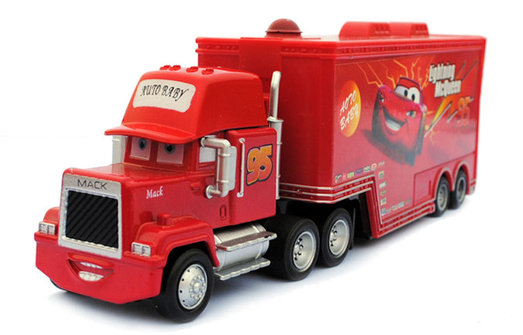 Disney Pixar Cars Mack Uncle & No.43 King No.95 Lightning McQueen Metal Diecast Toy Car 1:55 Loose Brand New In Stock