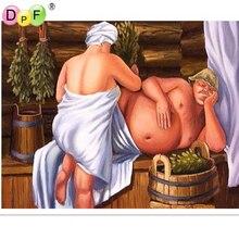 DPF Diy diamond embroidery painting cross stitch human body bathing