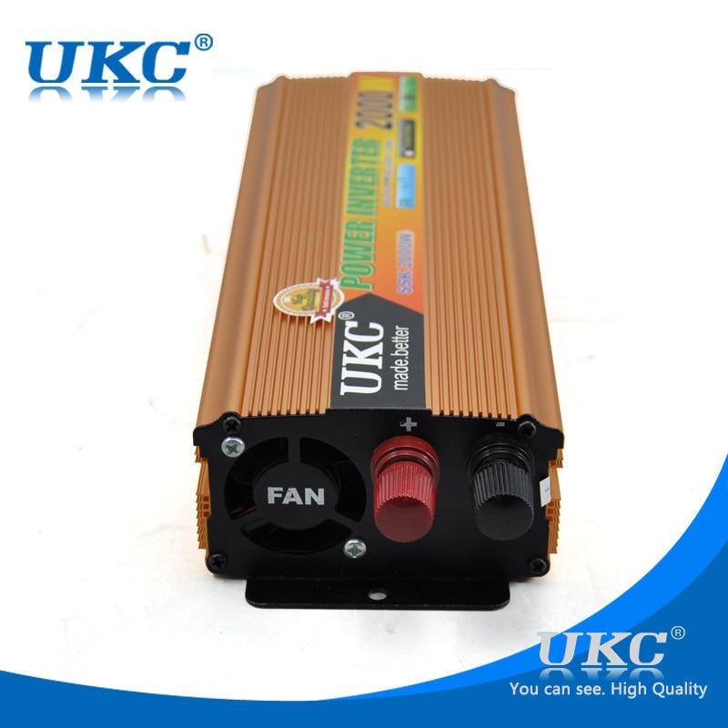 Преобразователь постоянного тока в переменный ток 12 В в 220 В, инвертор 2000 Вт, универсальный солнечный инвертор, модифицированный синусоидальный инвертор, бесплатная доставка|solar inverter|inverter 2000w2000w power inverter | АлиЭкспресс