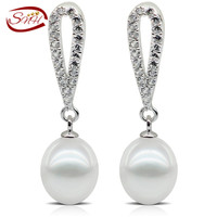 freshwater pearl earrings 925 sterling silver earring free shipping