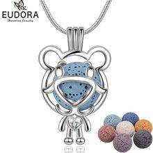 Ожерелье eudora с милым медведем из циркония ожерелье ароматерапией