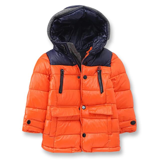 Los niños de Invierno Chaquetas Gruesas Chaquetas para Niños Con Capucha de la Cremallera a prueba de Viento Impermeable Ropa de Los Muchachos de Marca Boy Outwear 3-12 años