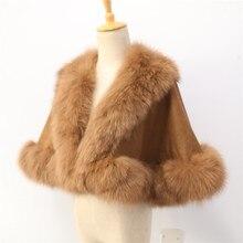 Детский настоящий бренд Fox Fur Trim, длина 40 см, для age3-5, кашемировая шаль