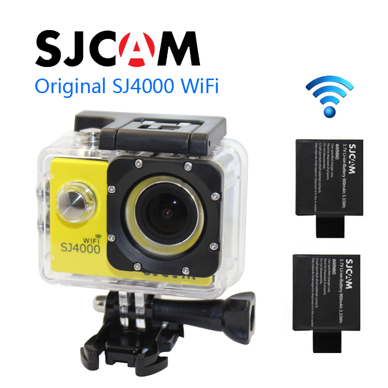 лучшая цена Free shipping!!Original SJCAM SJ4000 WiFi 1080P Full HD Diving 30M Waterproof Sport Action Camera+Extra 1pcs battery