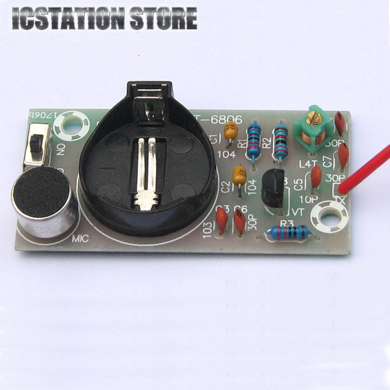 FM Frequency Modulation Wireless Microphone Module DIY Kit For DIY Teaching Suite No Battery