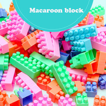 188 Children DIY Building and Construction Big Block Toys/ Kids Baby Creative Macaroon Color Blocks Educational Toy for Gift