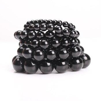 Bracelet Pierre Obsidienne Noire