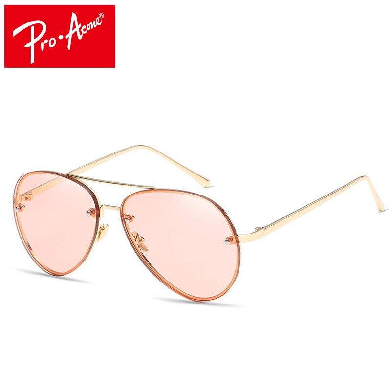 Pro Acme Summer Style Lady Sunglasses Women Brand Design Twin-Beams Shades Metal Frame lunette de soleil femme CC0938
