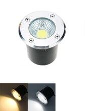 AC85-265V/DC12V IP68 5 Вт 10 Вт лампа для похороненного грунта, светильник, уличный COB светодиодный светильник, светильник для подземных работ, садовый светильник
