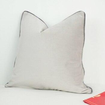 Funda de cojín de terciopelo de 3 colores gris plateado humo gris con funda de almohada media gris sin relleno