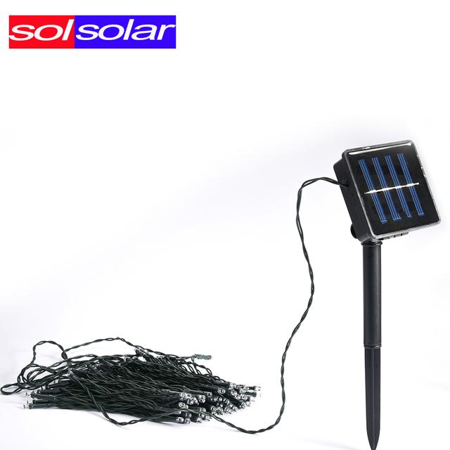 72ft SOLSOLAR Luzes Solares À Prova D' Água 22 m 200 LED Solar Luzes Cordas de Fadas para Jardins Ao Ar Livre, Festa de Casamento Casas