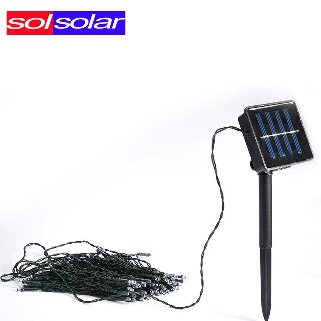 394a7ce98fc 72ft SOLSOLAR de Luces Solares Impermeables 22 m 200 LED Solar Luces de  Hadas de Cuerda