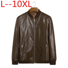 Genuine Leather Jacket Men Coats Genuine Sheepskin Brand Black Male Motorcycle Leather Jacket Winter Coat Plus size 10XL 8XL 6XL