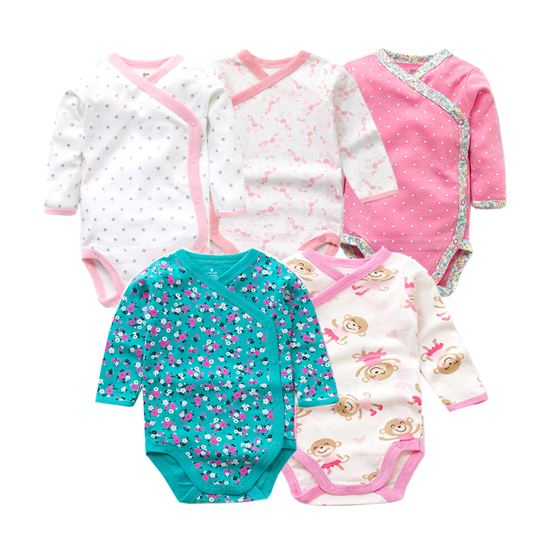 5 шт./лот Детские боди для новорожденных на осень 100% хлопковые боди с длинными рукавами для малышей; Нижнее белье; Комбинезоны для новорожденных мальчиков пижамы для девочек, одежда 2