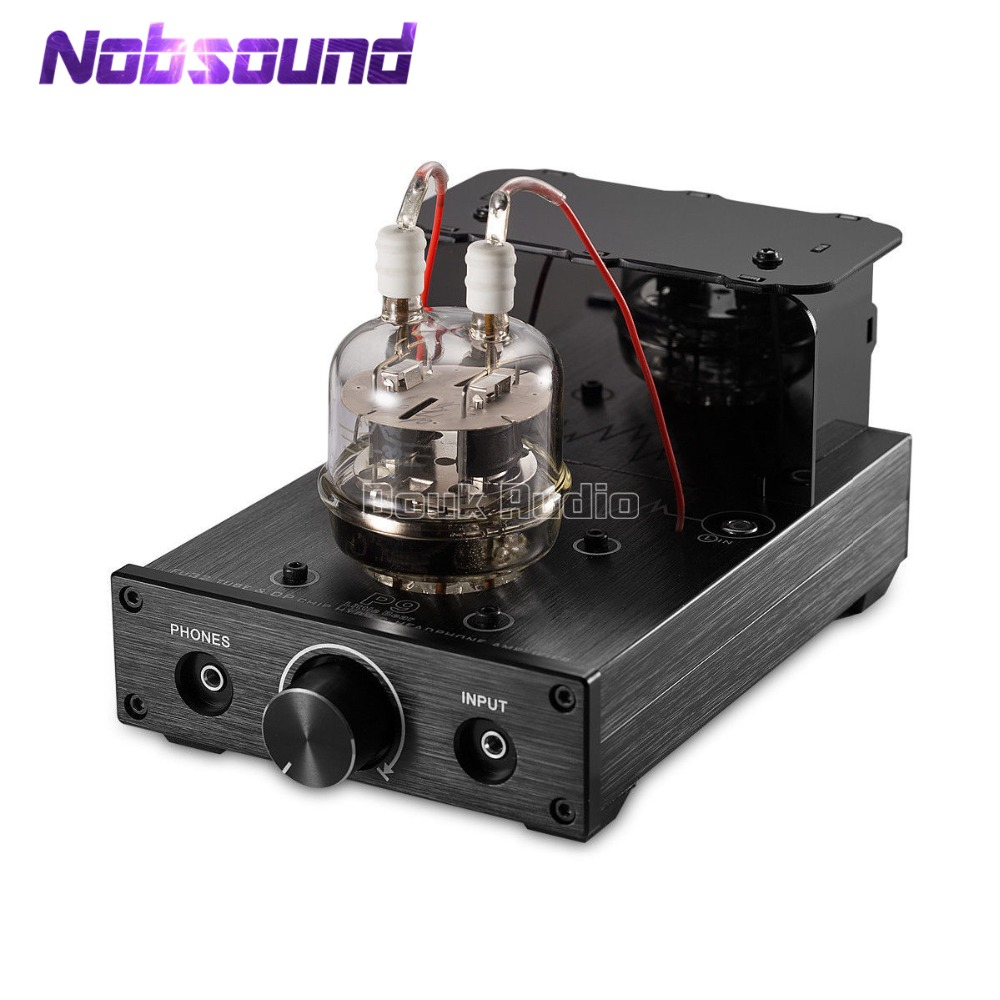 Nobsound HiFi Mini FU32 Vacuum Tube Amplifier Stereo Audio Hybrid Headphone Amp Black Little Bear P9 1pcs high quality little bear p5 stereo vacuum tube preamplifier audio hifi buffer pre amp diy new