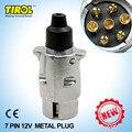 TIROL 7-Pin Novo Trailer Plug 7-pólo Rodada Pin Trailer Fiação conector 12 V de Reboque reboque Plug N Tipo-Final Trailer T22776b