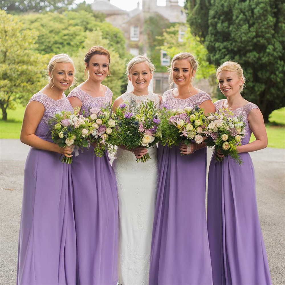 Detail Feedback Questions about Lavender Chiffon Bridesmaid Dresses ... 0bf6e686bbf5
