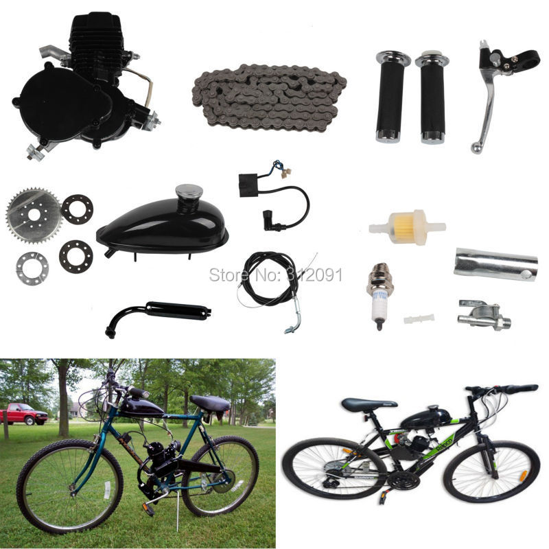 Ship From USA ! 2 stroke 80cc Motor blike bicycle engine kits/ gas bike kit C80 with suitable price ship from usa 2 stroke petrol gas bike engine diy bike bicycle motorize engine motor kit 26 or 28